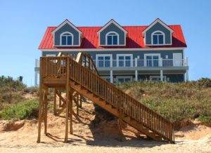 house on the beach front