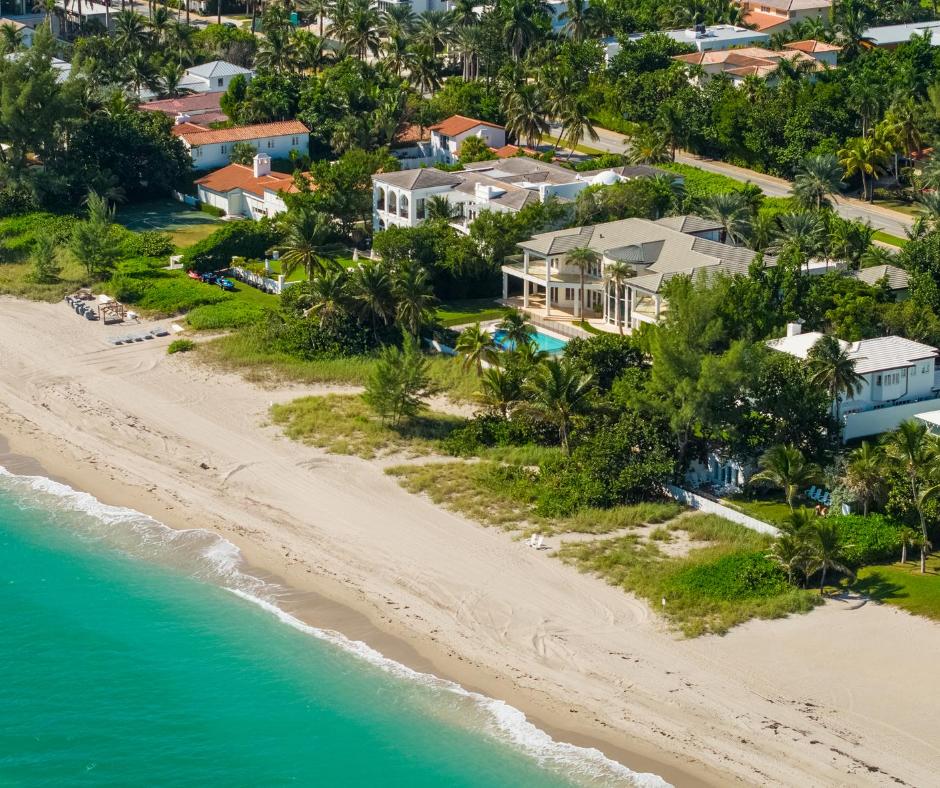 aerial view of beach coast